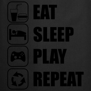 Eat Sleep Play Repeat T-skjorter - Kokkeforkle