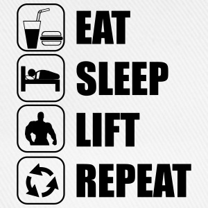 Eat Sleep Lift Repeat Sportbekleidung - Baseballkappe