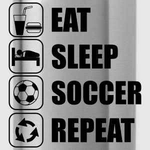 Eat Sleep Soccer Repeat T-Shirts - Trinkflasche
