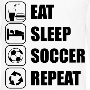 Eat Sleep Soccer Repeat Sportsklær - Premium langermet T-skjorte for menn