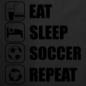 Eat Sleep Soccer Repeat Urheiluvaatetus - Esiliina