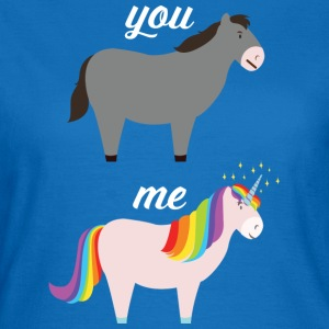You VS Me (Donkey - Unicorn) Tazze & Accessori - Maglietta da donna