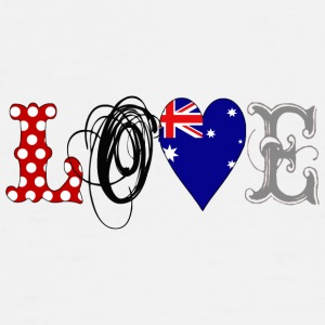 Love Australia Black - Men's Premium T-Shirt