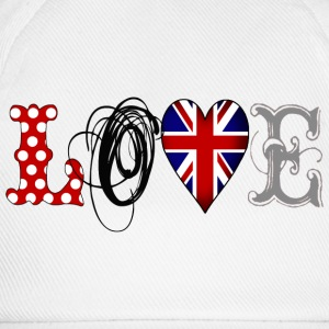 Love UK Black - Gorra béisbol