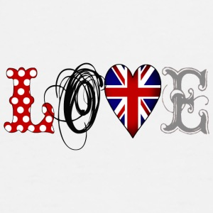 Love UK Black - Camiseta premium hombre