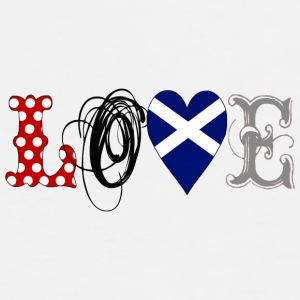 Love Scotland Black - Camiseta premium hombre