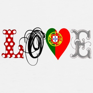 Love Portugal Black  - Männer Premium T-Shirt