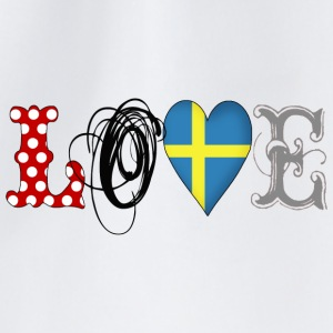 Love Sweden Black - Turnbeutel