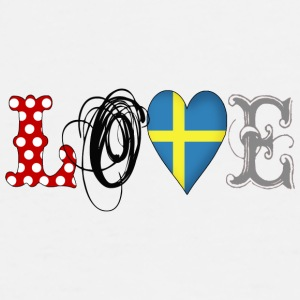Love Sweden Black - Men's Premium T-Shirt
