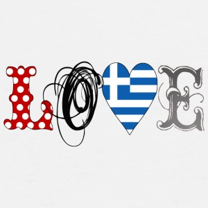 Love Greece Black - Männer Premium T-Shirt