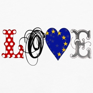 Love Europe Black - Camiseta de manga larga premium hombre