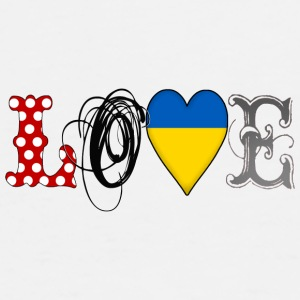 Love Ukraine Black - Männer Premium T-Shirt