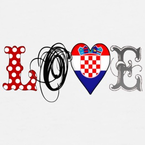 Love Croatia Black - Männer Premium T-Shirt