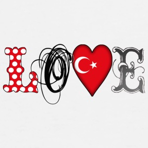 Love Turkey Black - Men's Premium T-Shirt