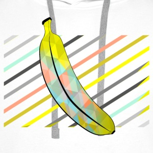 White Stylish Pixel Bananas Shirts - Men's Premium Hoodie