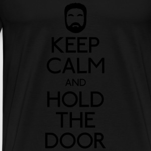 Keep Calm hold the door Sweatshirts - Herre premium T-shirt