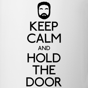 Keep Calm hold the door Tröjor - Mugg
