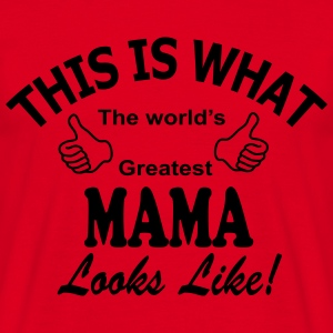Mama world's greatest Kookschorten - Mannen T-shirt