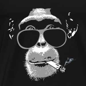 Chimpanzee with joint   Tops - Männer Premium T-Shirt
