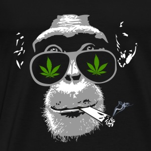 Chimpanzee with joint - Marijuana Tops - Men's Premium T-Shirt