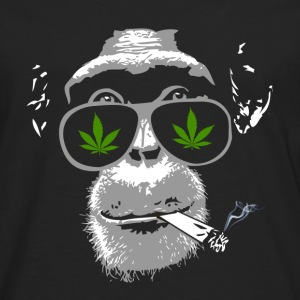 Chimpanzee with joint - Marijuana T-shirts - Långärmad premium-T-shirt herr