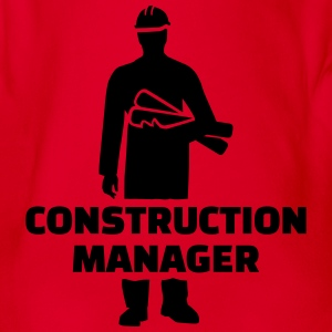 Construction Manager T-Shirts - Baby Bio-Kurzarm-Body