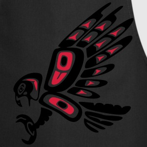 Native american falcon - tribal art symbol, indian T-shirts - Forklæde