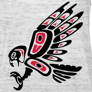 Native american falcon - tribal art symbol, indian T-Shirts - Women's Tank Top by Bella