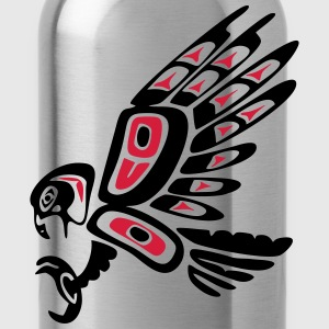 Native american falcon - tribal art symbol, indian - Trinkflasche