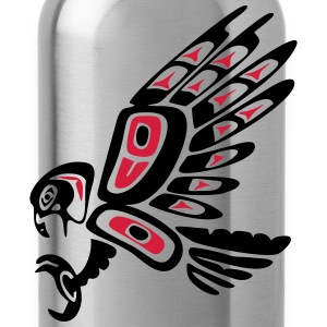 Native american falcon - tribal art symbol, indian T-Shirts - Water Bottle
