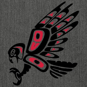 Native american falcon - tribal art symbol, indian T-shirts - Schoudertas van gerecycled materiaal