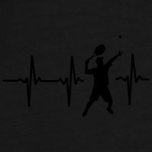 MY HEART BEATS FOR TENNIS! Bags & Backpacks - Men's Premium T-Shirt