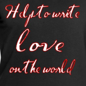 Help to write love on the world - Men's Sweatshirt by Stanley & Stella