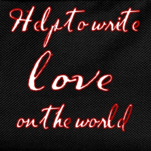 Help to write love on the world - Kids' Backpack