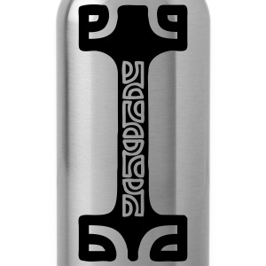 MAN OF TEAHUPOO  (tribal collection) - Water Bottle