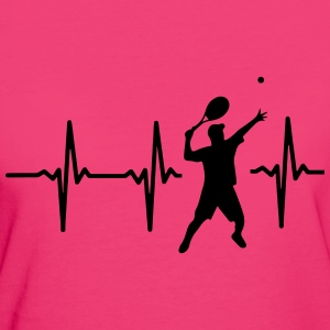 MY HEART BEATS FOR TENNIS! Bags & Backpacks - Women's Organic T-shirt