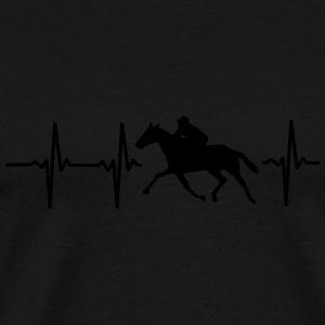 MY HEART BEATS FOR HORSES! Long Sleeve Shirts - Men's Premium T-Shirt
