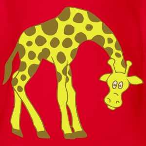 Giraffe Shirts - Organic Short-sleeved Baby Bodysuit