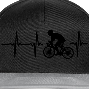 MY HEART BEATS FOR CYCLING! Hoodies - Snapback Cap