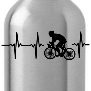 MY HEART BEATS FOR CYCLING! Shirts - Water Bottle