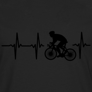 MY HEART BEATS FOR CYCLING! Shirts - Men's Premium Longsleeve Shirt