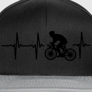 MY HEART BEATS FOR CYCLING! Shirts - Snapback Cap