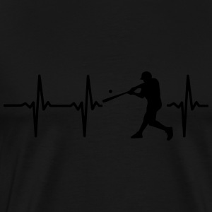 MY HEART BEATS FOR BASEBALL! Hoodies & Sweatshirts - Men's Premium T-Shirt