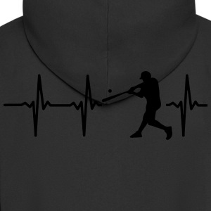 MY HEART BEATS FOR BASEBALL! Hoodies & Sweatshirts - Men's Premium Hooded Jacket