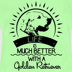 Life is better - Golden Retriever Tops - Baby T-Shirt