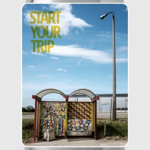 bus-stop start your trip T-Shirts - Trinkflasche