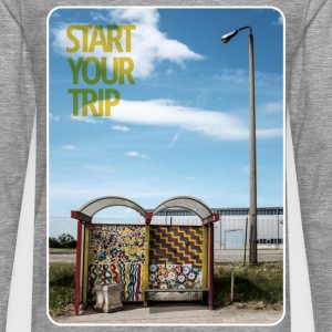 bus-stop start your trip T-Shirts - Männer Premium Langarmshirt