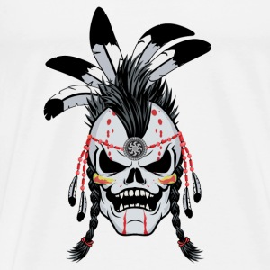 Indian Warrior Skull Tops - Men's Premium T-Shirt
