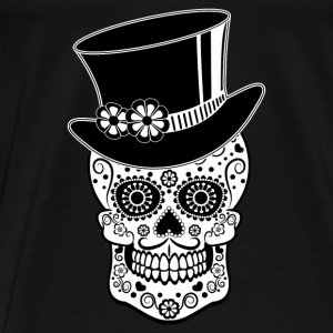 Gentleman Sugar Skull Hoodies & Sweatshirts - Men's Premium T-Shirt