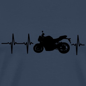 MY HEART BEATS FOR MOTORCYCLES Long Sleeve Shirts - Men's Premium T-Shirt
